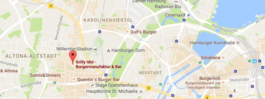 Map Grilly Idol Burger Hamburg