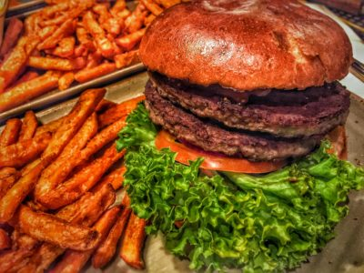 Burger Sweet Potato Fries Peter Pane Hamburg